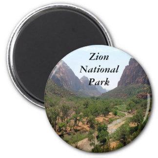 Zion National Park 2 Inch Round Magnet