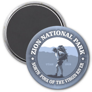 Zion National Park 3 Inch Round Magnet