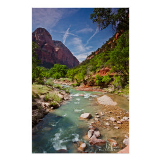 Zion National Park and the Virgin River Art Print