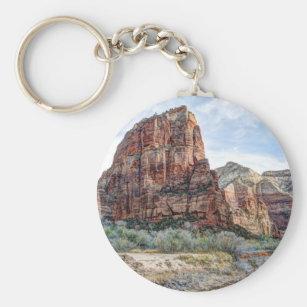 Zion National Park Angels Landing - Digital Paint Keychain