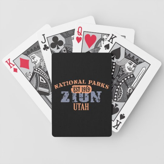 Zion National Park Bicycle Playing Cards