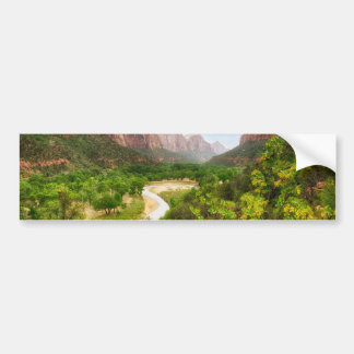 ZIon National Park Car Bumper Sticker