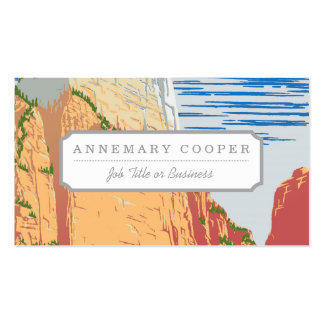 Zion National Park Business Card