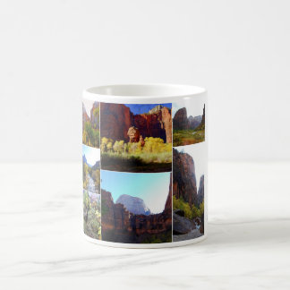 Zion National Park Collage Classic White Coffee Mug