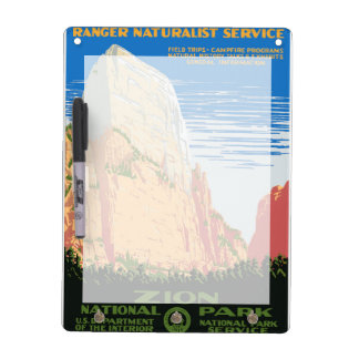 Zion National Park Dry Erase Board