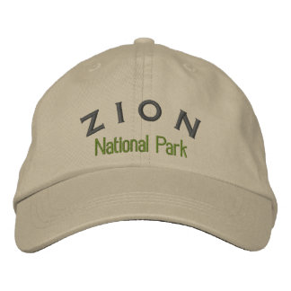 Zion National Park Embroidered Baseball Cap