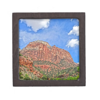 Zion national park in Utah Jewelry Box