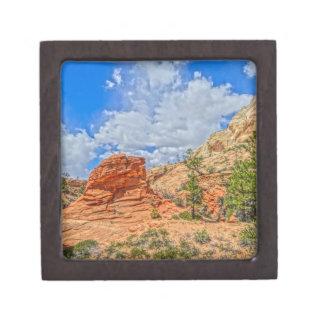 Zion national park in Utah Keepsake Box