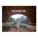 Zion National Park - Keystone Bridge Post Cards