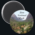 "Zion National Park Magnet<br><div class=""desc"">Waterfall,  Emerald Pool,  Zion National Park</div>"