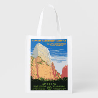 Zion National Park Reusable Grocery Bag