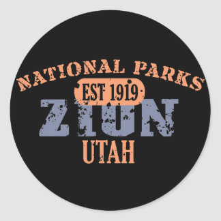 Zion National Park Classic Round Sticker