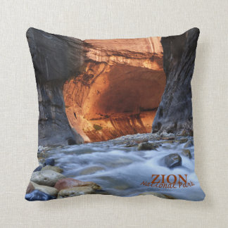 Zion National Park, The Narrows, Throw Pillow