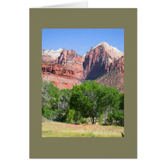 Zion National Park Thinking of You Template Card