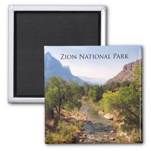 Zion National Park, Utah 2 Inch Square Magnet