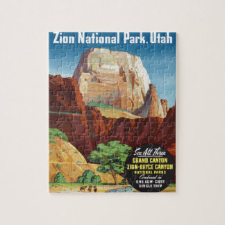 Zion National Park,Utah America Travel Jigsaw Puzzle