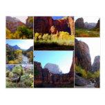 Zion National Park, Utah, Collage Postcard