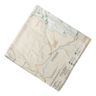 Zion National Park (Utah) map bandana