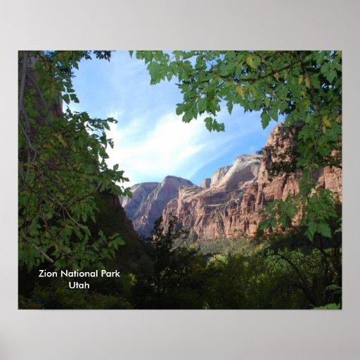 Zion National Park Utah Poster