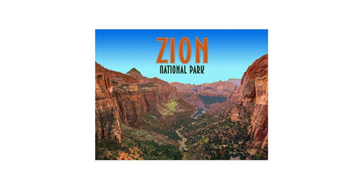 Zion National Park Utah Vintage Postcard | Zazzle.com