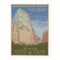 Zion National Park Vintage Poster Postcard