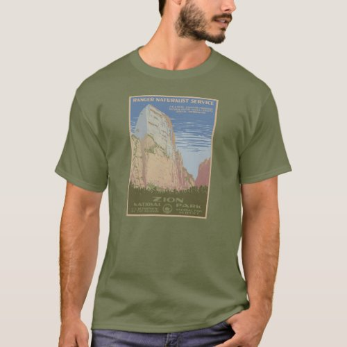 Zion National Park Vintage Poster Shirt