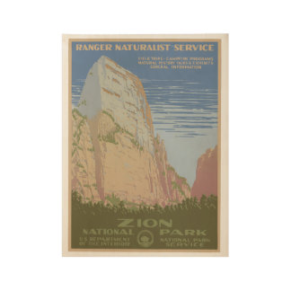 Zion National Park Vintage Poster Wyoming
