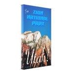 Zion National Park - Vintage Style Stretched Canvas Prints