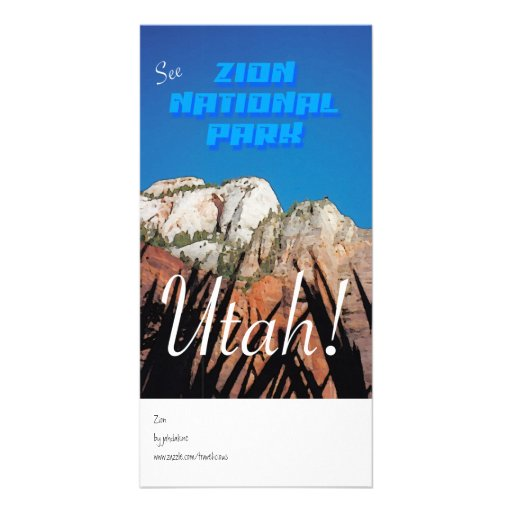 Zion National Park - Vintage Style Photo Greeting Card