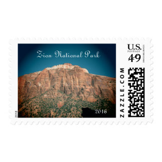 Zion National Park Vintage Styled Photograph Postage