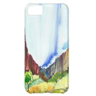 Zion National Park Watercolor iPhone Case