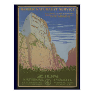Zion National Park WPA Poster