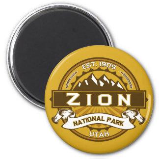 Zion Natl Park Goldenrod 2 Inch Round Magnet