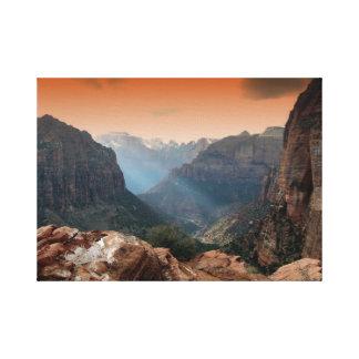 Zion Park, Utah amazing nature scenery Canvas Print