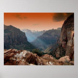Zion Park, Utah amazing nature scenery Poster