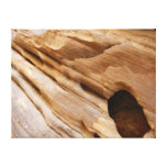 Zion Red Rock Canyon Wall I Abstract Photography Canvas Print