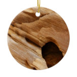 Zion Red Rock Canyon Wall I Abstract Photography Double-Sided Ceramic Round Christmas Ornament