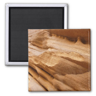 Zion Red Rock Canyon Wall II Abstract Photography 2 Inch Square Magnet