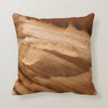 Zion Red Rock Canyon Wall II Abstract Photography Throw Pillow
