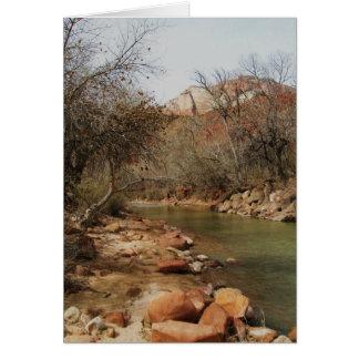 Zion River Card