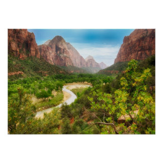 ZIon Valley on A Bright Day Poster