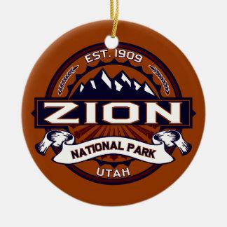 Zion Vibrant Ceramic Ornament