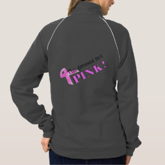 Zip-front jacket, grey with PINK graphic Jacket