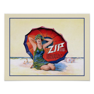 Zip Hair Remover Vintage 1924 Ad Poster