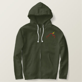 Zip Hoodie With Embroidered TLC Logo
