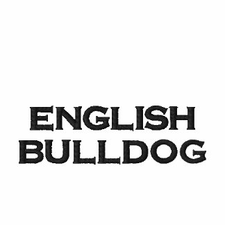 Zip Hoody Mr signors English Bulldog