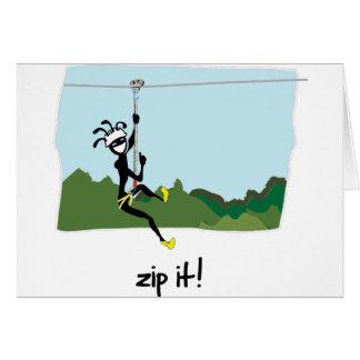 """""""Zip It!"""" Card"""