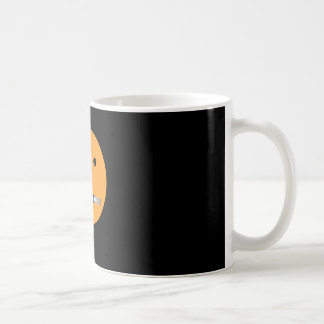 Zip It Happy Face Smiley - Black Background Coffee Mug