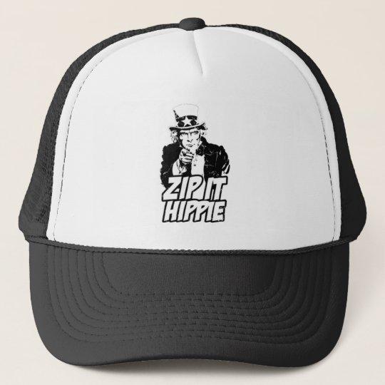 Zip it Hippie Trucker Hat  72dac1c642b