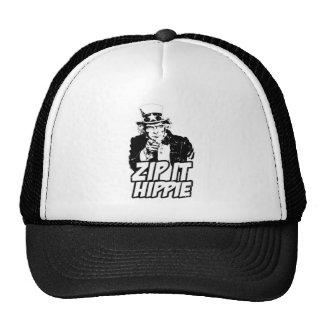 Zip it Hippie Trucker Hat
